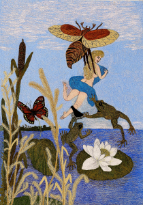 12. Thumbelina and toads (size 50x70cm)