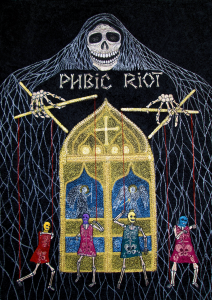 13. Pubic Riot  (size: 50x70см=19.7 in- 27.6 in)